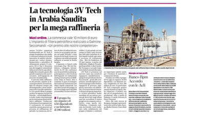 3V Tech Tecnologia per mega raffineria